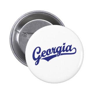 Georgia script logo in blue buttons