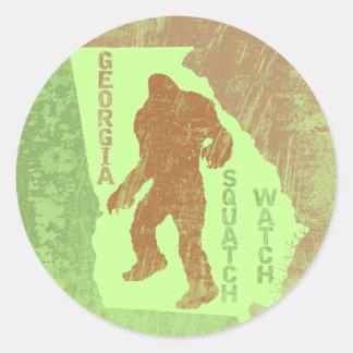 Georgia Squatch Watch Classic Round Sticker