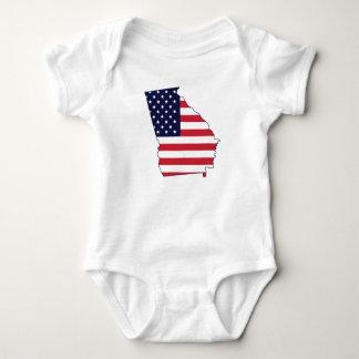 Georgia State American Flag tshirt