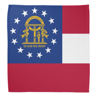 Georgia State Flag Bandana