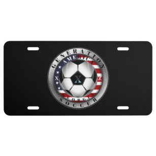 Georgia State Generation X American Soccer License Plate