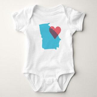Georgia State Love Baby Shirt