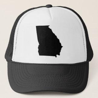 Georgia State Outline Trucker Hat