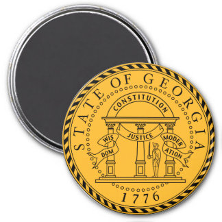 Georgia State Seal 3 Inch Round Magnet