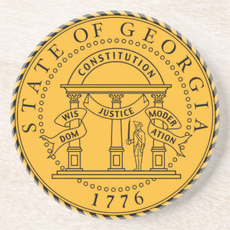 Georgia state seal america republic symbol flag coaster