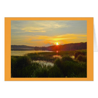 Georgia Sunset - Lake Acworth 2 Card