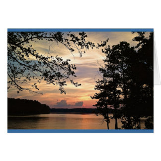 Georgia Sunset - Lake Acworth Card