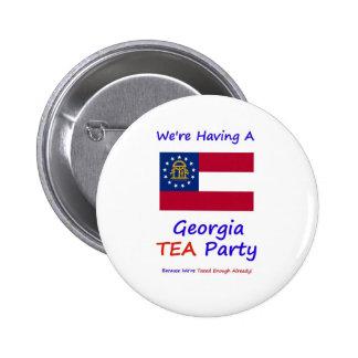 Georgia TEA Party - We re Taxed Enough Already Pin