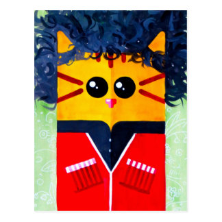 Georgian Cat Postcard