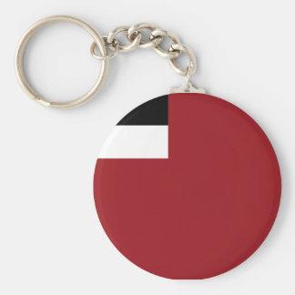 Georgian flag basic round button keychain
