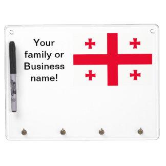 Georgian Flag Dry Erase White Board