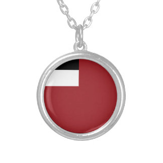 Georgian flag silver plated necklace
