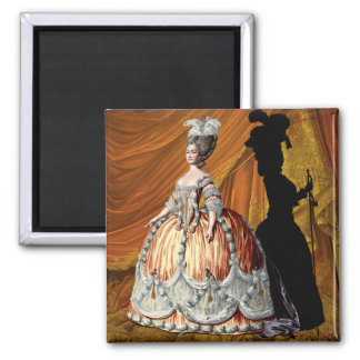 Georgian Lady - Orange Square Magnet