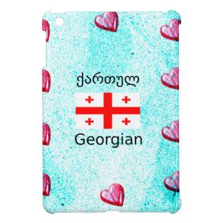 Georgian Language And Flag Design iPad Mini Cover