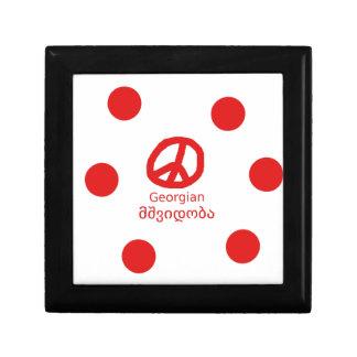 Georgian Language and Peace Symbol Design Gift Box