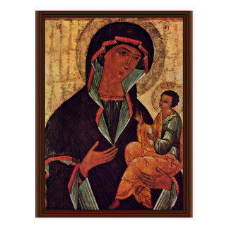 Georgian Madonna By Meister Der Schule Von Nowgoro Postcard