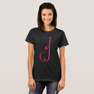 Georgian Script Letter - Q Black T-Shirt