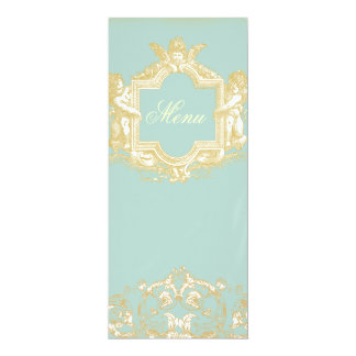 "Georgiana (Marie Antoinette Blue) Menu 4"" X 9.25"" Invitation Card"