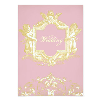 "Georgiana (Peony pink) 5"" X 7"" Invitation Card"