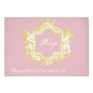"Georgiana (Peony Pink) RSVP 3.5"" X 5"" Invitation Card"