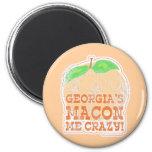 Georgia's Macon Me Crazy! 2 Inch Round Magnet