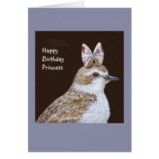 Georgie the snowy plover card