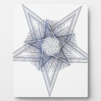 Geoscribble Star 1 Plaque