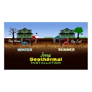 Geothermal Energy Business Cards