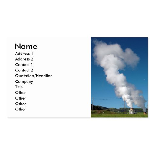 Geothermal instalations business card