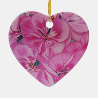 Geranium Ceramic Ornament