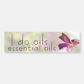 Geranium Essential Oils Bumper Sticker