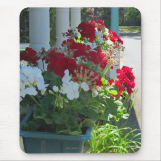 Geranium Flower Box - Martha's Vineyard Cottage Mouse Pad