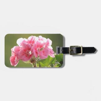 geranium luggage tag