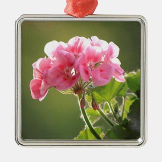 geranium metal ornament