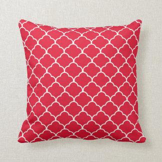 Geranium Moroccan Design @ Emporio Moffa Throw Pillow