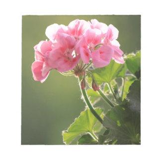 geranium notepad