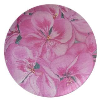 Geranium Plate