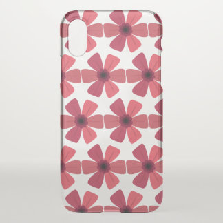 Geranium Red Bloom iPhone X Case