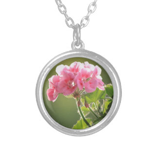geranium silver plated necklace