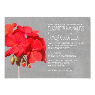 Geranium Wedding Invitations