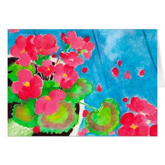Geraniums Card