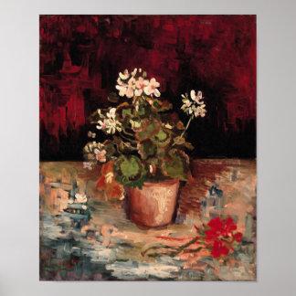 Geraniums in a Flowerpot Van Gogh Fine Art Poster
