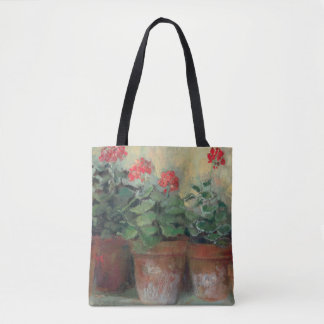 Geraniums in Pots Tote Bag