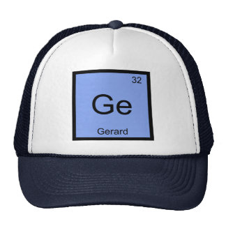Gerard  Name Chemistry Element Periodic Table Hats