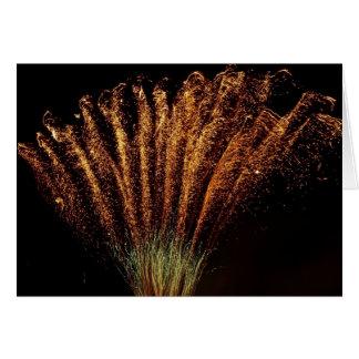 Gerbe de feu d artifice - cartes de vœux