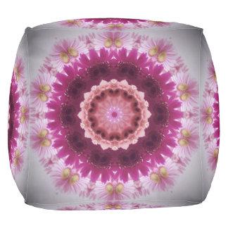 Gerber Daisy Custom Sturdy Polyester Cubed Pouf
