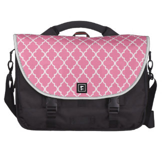 Gerber Daisy Pink & White Moroccan Trellis Pattern Computer Bag