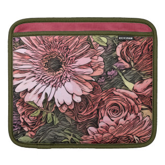 Gerbera and rose bouquet ipad sleeve