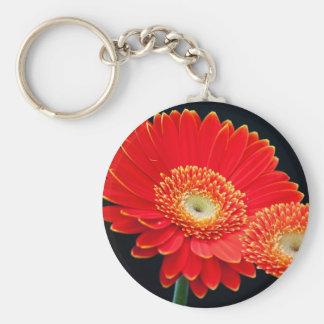 gerbera basic round button keychain