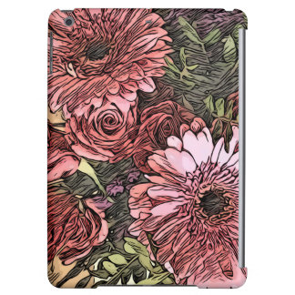 Gerbera bouquet case iPad air cover